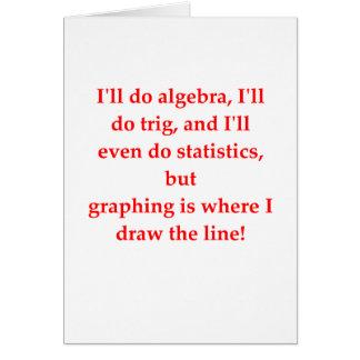 funny math joke greeting card