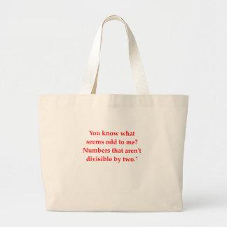 funny math joke large tote bag