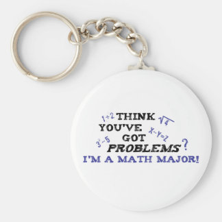 Funny Math Major Keychain