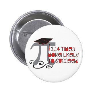 Funny Math Pi Senior Graduate 6 Cm Round Badge