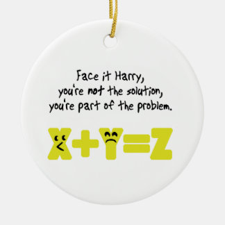 Funny Math Problem Christmas Ornament