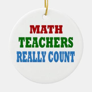 Funny Math Teacher Christmas Ornament