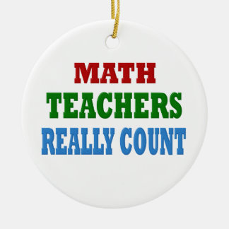 Funny Math Teacher Round Ceramic Decoration