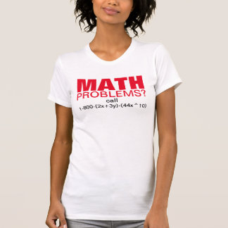 Funny math tutor joke. Get help with an equation Shirts