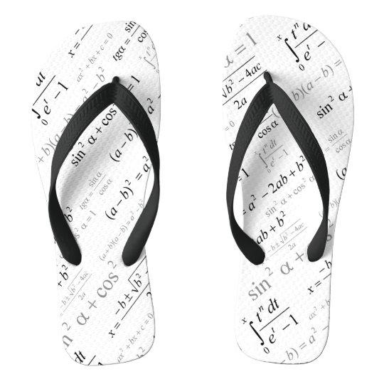Funny Mathematics Formulas Math Geek Flip Flops