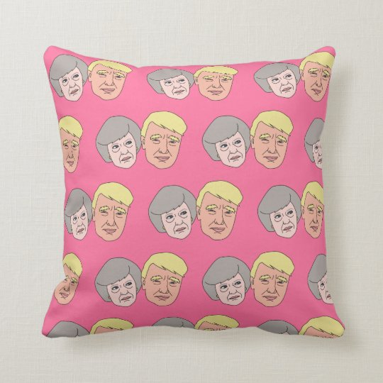 Funny May and Trump Cushion Pillow