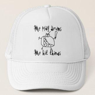 "Funny ""Me Play Drums"" Drummer Hat"