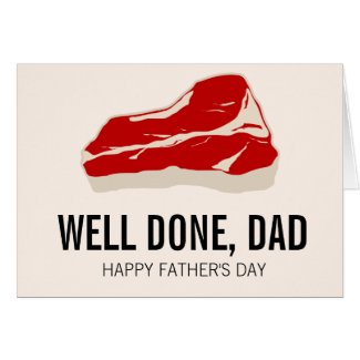 Funny Meat Father's Day Card