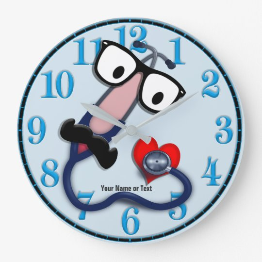 Funny Medical Clock Changeable Background Colour