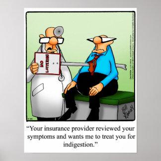 Funny Medical Insurance Humor Poster