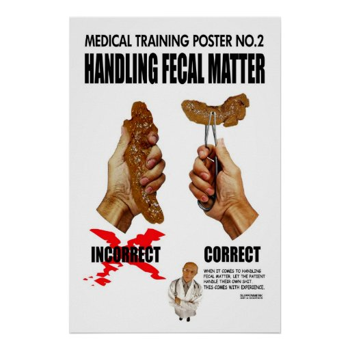 Funny medical training poster
