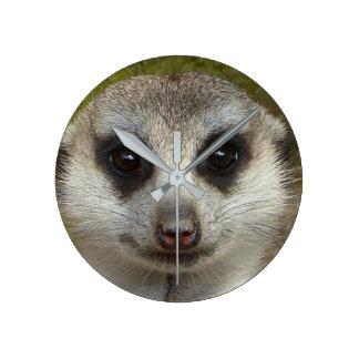 Funny Meerkat 002 02.3_rd Round Clock