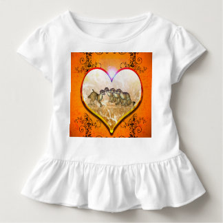 Funny meerkat in a heart with floral elements shirt