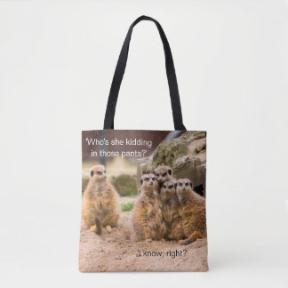 Funny Meerkat Photo Meme Tote Bag
