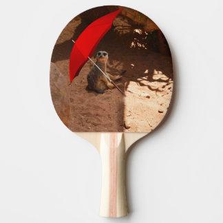 Funny Meerkat Sitting Under Umbrella, Ping Pong Paddle