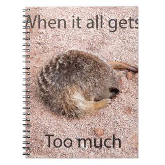 Funny Meerkat Spiral Note Books
