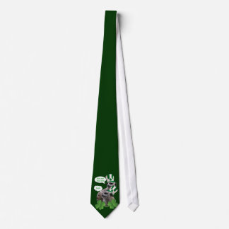 Funny meerkat St Patrick's day Tie