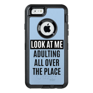 Funny meme Adulting all over the place quote OtterBox Defender iPhone Case