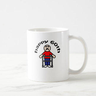 "Funny, Mens ""Happy 60th"" Coffee Mugs"