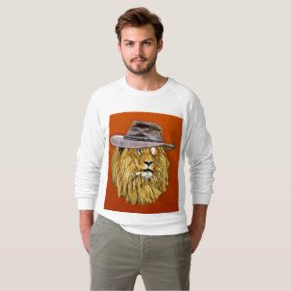 Funny Men's T-shirts, LION smoking cigarette Sweatshirt