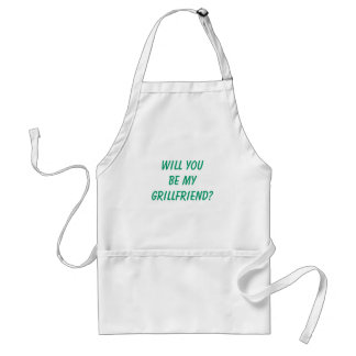 "Funny Men's ""WILL YOU BE MY GRILLFRIEND?"" BBQ Standard Apron"