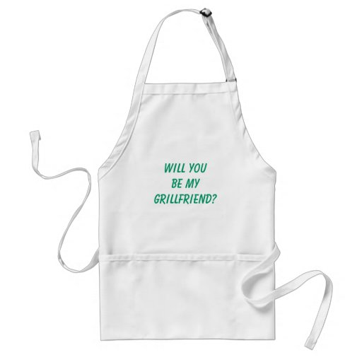 """Funny Men's """"WILL YOU BE MY GRILLFRIEND?"""" Standard Apron"""