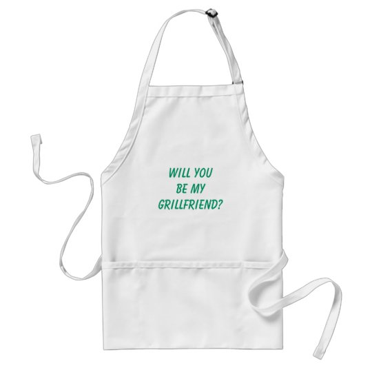 "Funny Men's ""WILL YOU BE MY GRILLFRIEND?"" Standard Apron"