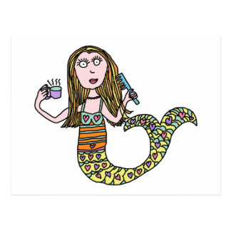 Funny Mermaid Postcard