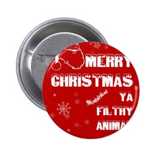 Funny Merry Christmas 6 Cm Round Badge