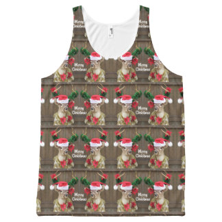 Funny Merry Christmas Whitetail Deer Buck All-Over Print Tank Top