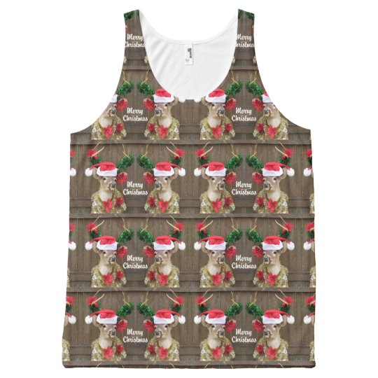 Funny Merry Christmas Whitetail Deer Buck All-Over Print