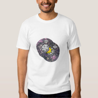 Funny meteor collision in space Cartoon Tshirt