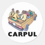 Funny Mexican Carpul Round Sticker