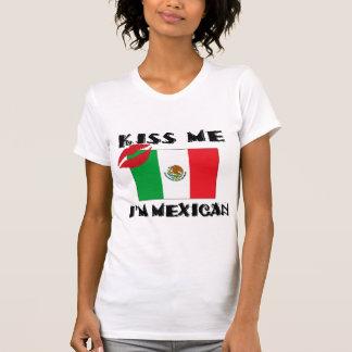Funny Mexican Kiss Me I'm Mexican T-Shirt T Shirt