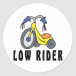 Funny Mexican Low Rider Classic Round Sticker