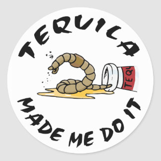 Funny Mexican Tequila Classic Round Sticker
