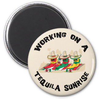 Funny Mexican Tequila Sunrise Refrigerator Magnets