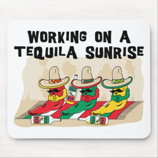 Funny Mexican Tequila Sunrise Mouse Pads