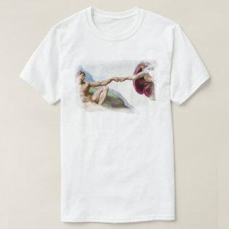 Funny Michelangelo Creation Of Man Fist Bump T-Shirt