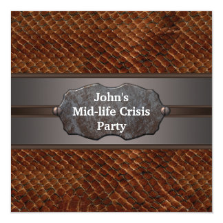 Funny Mid Life Crisis Mans 40th Birthday Party Card