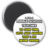 Funny Middle School Teacher T-Shirts and Gifts Magnets
