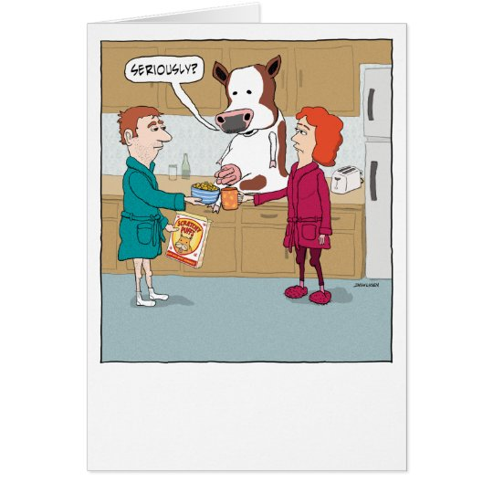 Funny Milking the Cow Happy Anniversary Card