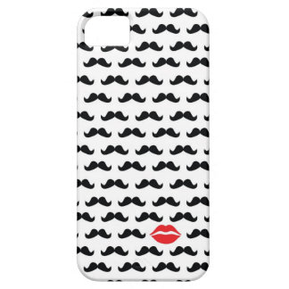 Funny mini mustache with lips for your phone!! iPhone 5 cover