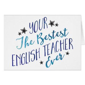Funny Mispelled Bestest English Teacher Ever Greeting Card