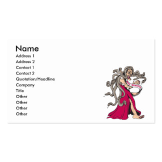 funny miss monster ugly pageant winner cartoon business cards