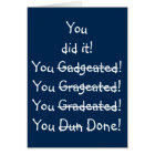 Funny Misspelling Graduation Congratulations Card