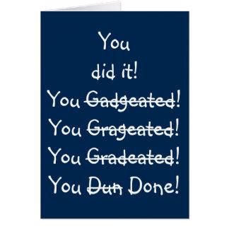 Funny Misspelling Humor Fun Graduation Wishes Card