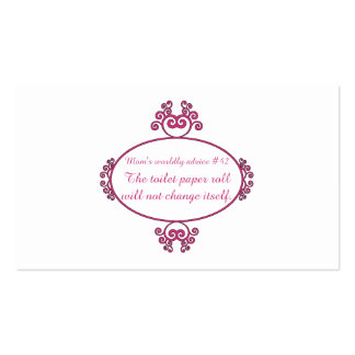 Funny mom advice on t-shirts and gifts for mom. business card templates