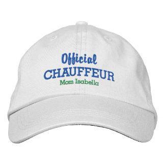 Funny Mom Hat Official Chauffeur Custom Name Baseball Cap