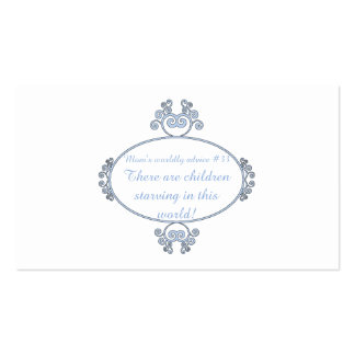 Funny mom-ism t-shirts and gifts for mom. business cards
